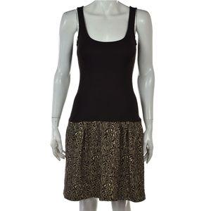 DVF Shay Dress - Brown Cream Sleeveless Tank sz 8